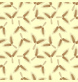 wheat ears and bread seamless pattern vector image