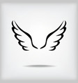 wing black vector image