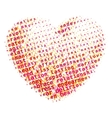 Word cloud heart vector image