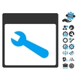 Wrench Tool Calendar Page Icon With Bonus vector image vector image