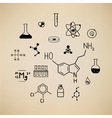 Chemical symbols vector image