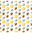 Metalic stars on white seamless pattern vector image
