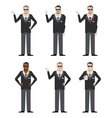 Set of FBI Agents vector image