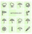14 meteorology icons vector image vector image