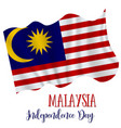 31 august malaysia independence day background vector image vector image