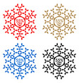 55 off discount sticker snowflake 55 off sale vector image vector image