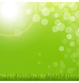 Abstract Green Bubble With Grass And Sun vector image vector image