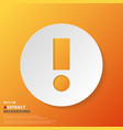 Abstract of orange exclamation mark symbol