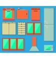 Accessories of kitchen design vector image