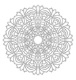 adult coloring book flowers mandala black and vector image vector image