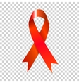 AIDS red ribbon on transparent background vector image