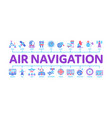 air navigation tool minimal infographic banner