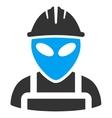 Alien Worker Icon vector image vector image