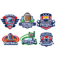 american football badge design vector image