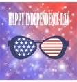 American Sunglasses Background vector image vector image