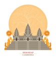 angkor wat siem reap cambodia with decoration vector image vector image