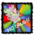 anti drug poster with fuzzy devil face on vector image vector image