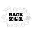 back to school icons with lettering vector image