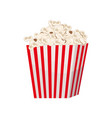 biggest full red-and-white striped popcorn bucket vector image