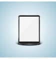 black tablet pc with white screen vector image vector image