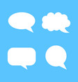 blank empty speech bubble icon in flat style vector image vector image