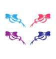 bow tie icon on white background vector image