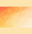 bright orange low polygonal crystal background vector image vector image