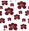 burgundy orchid phalaenopsis floral seamless vector image
