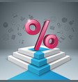Business infographics percent stair ladder icon