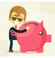 Business man save money vector image vector image