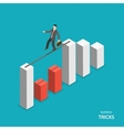 Business tricks isometric flat concept vector image vector image