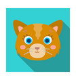 cat muzzle icon in flat style isolated on white vector image vector image
