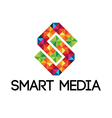 Colorful smart media logo vector image vector image