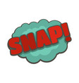 comic boom snap icon flat style vector image vector image