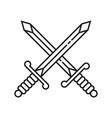 crossed sword icon symbol vector image