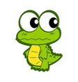 cute cartoon crocodile vector image vector image