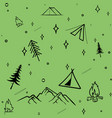 cute seamless pattern camping in the woods vector image vector image