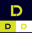 d and l monogram logo vector image