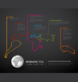 dark world map with pointer marks vector image vector image