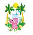 delicious fresh juice cartoon vector image vector image