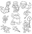 doodle of circus element hand draw vector image vector image