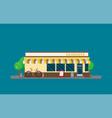 facade of bakery flat vector image vector image