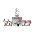 Factory elections in America Uncle Sam says vector image vector image