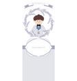 first communion celebration reminder cute boy vector image