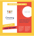 food company brochure template busienss template vector image vector image