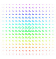 gears icon halftone spectral pattern vector image