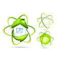 green atomic s vector image vector image