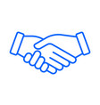 hand shake icon business partnership deal vector image