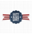 Happy Memorial Day festive Banner with Text vector image