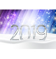 happy new year background with numbers nestled in vector image vector image